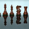 The Supreme Collector Series Golden Rosewood Luxury Chessmen Pieces