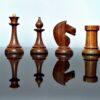 1950's Soviet Chessmen G'Rosewood