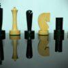 Berliner Ebonised Boxwood Chessmen