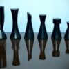 Modern Tower Series Chessmen Pieces in Ebonised Boxwood