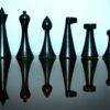 Hermann Ohme Chessmen Pieces in Ebonized boxwood