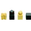 The bauhaus series Ebonized Chessmen Pieces