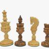 Lotus Series 4.4″ Burnt Boxwood Chessmen