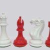 Pro Staunton Red/White Chessmen